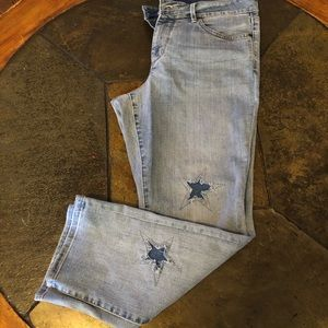 NYDJ Sheri ankle jeans with cut out star detail
